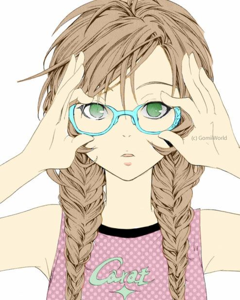 Anime Characters Glasses : How to draw anime girl with glasses manual images free