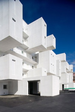 White boxy architecture