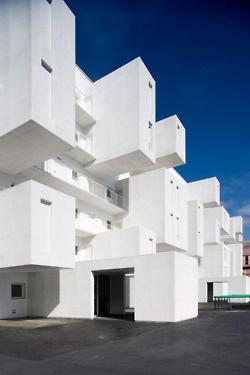White boxy architecture
