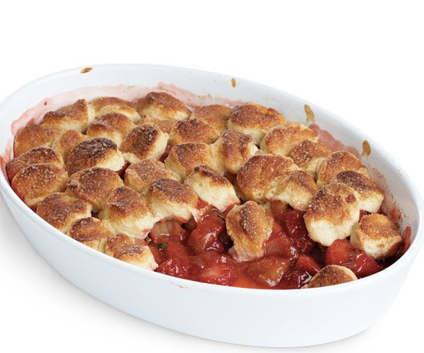 Strawberry-Rhubarb Cobbler with Honey recipe