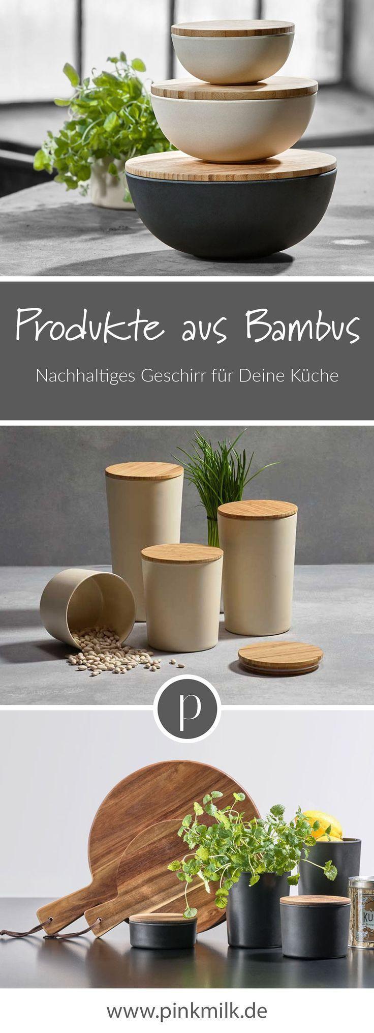 Produkte aus Bambus! Bei pinkmilk findest Du nachhaltiges Geschirr aus Bambus f