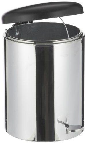 "Witt 2240Ss Stainless Steel Step On Metal Biohazard Waste Container, 4Gal Capacity, 11-1/2"" Diameter X 16"" Height,, 2015 Amazon Top Rated Biohazard Waste Containers #BISS"