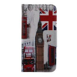 Флаг Великобритании Белл Эйфелева башня цветка кошелек кожаный для Samsung…