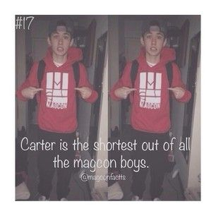 He may be the shortest of all the magcon boys be he's still a lot taller than me