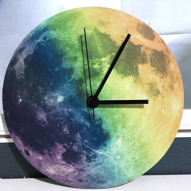 Beautiful Illuminating Moonlit Clock Model Number: Wall