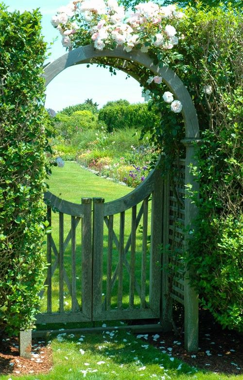 Fabulous garden gate with a view.