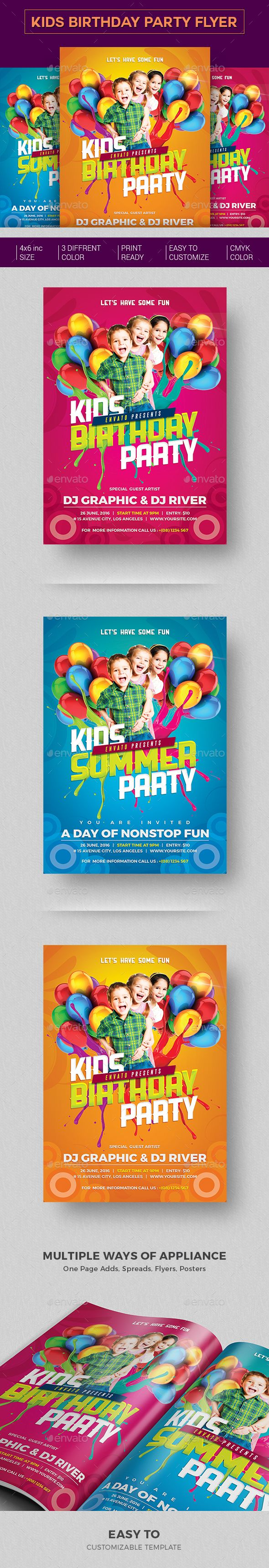 112 best cards birthday images on pinterest event flyers font kids birthday party invitation stopboris Choice Image