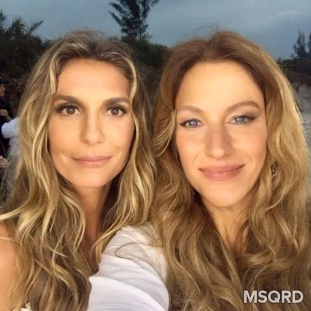 Ivete Sangalo e Gisele Bündchen usam filtro para trocar de rosto