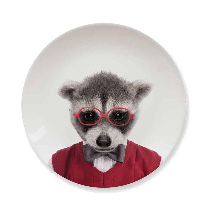 Wild Dining Side Plate - Raccoon