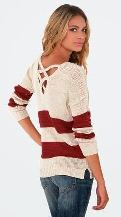 Comfy and cozy fitted sweater fashion