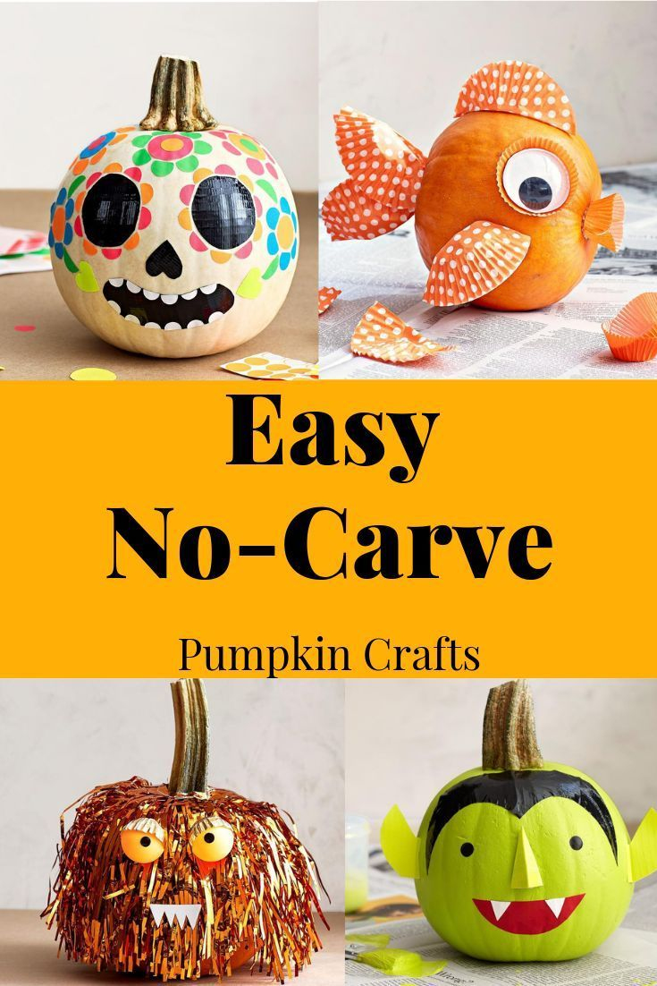 Easy No Carve Pumpkin Decorating Ideas For Kids With Images No