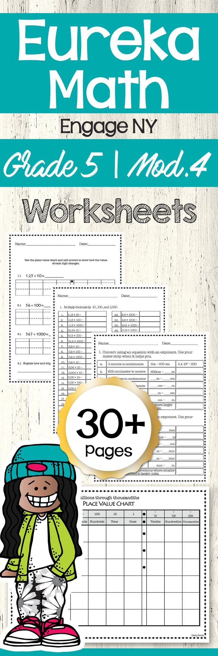 Eureka Math Engage Ny 5th Grade Extra Worksheets Module 4 Eureka Math Math Math Worksheets [ 2208 x 736 Pixel ]