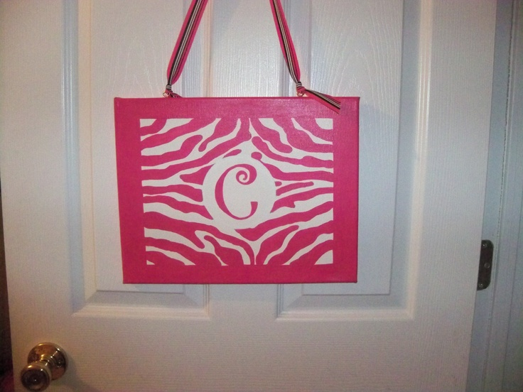 Cecilia's handpainted zebra print bedroom sign