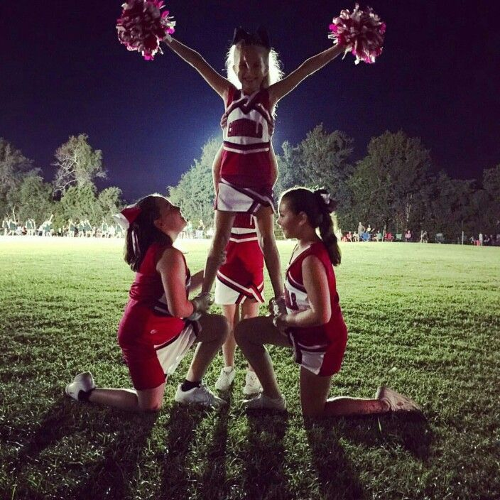 Peewee Cheer cuteness!                                                                                                                                                                                 More