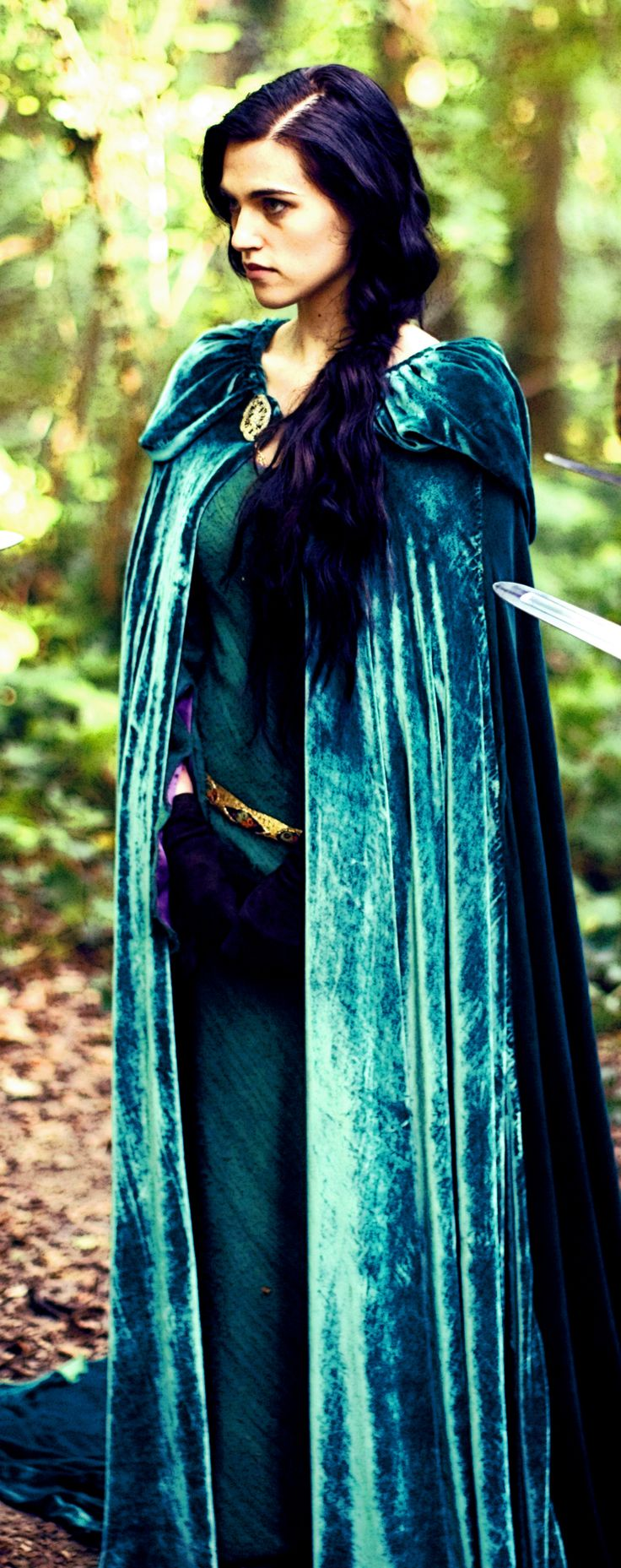 Katie McGrath as Morgana, in awesome cloak