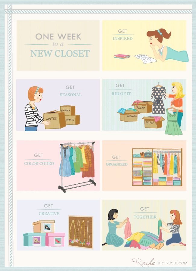 one week to a new closet