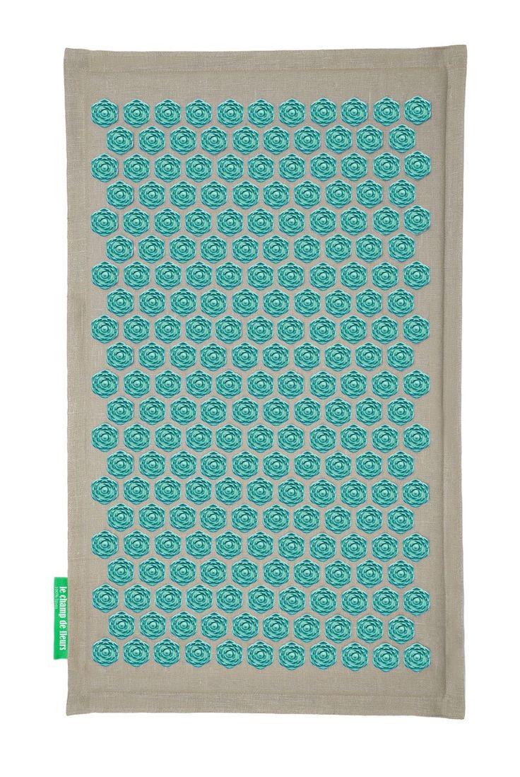 Tapis de Fleurs - Soulage les douleurs de dos - Turquoise: Amazon.fr: Hygiène et Soins du corps