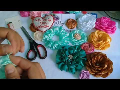 Flores de Tela de 8 Pétalos / 8 Petals Flowers | Video# 19 | SDetalles | DIY - YouTube
