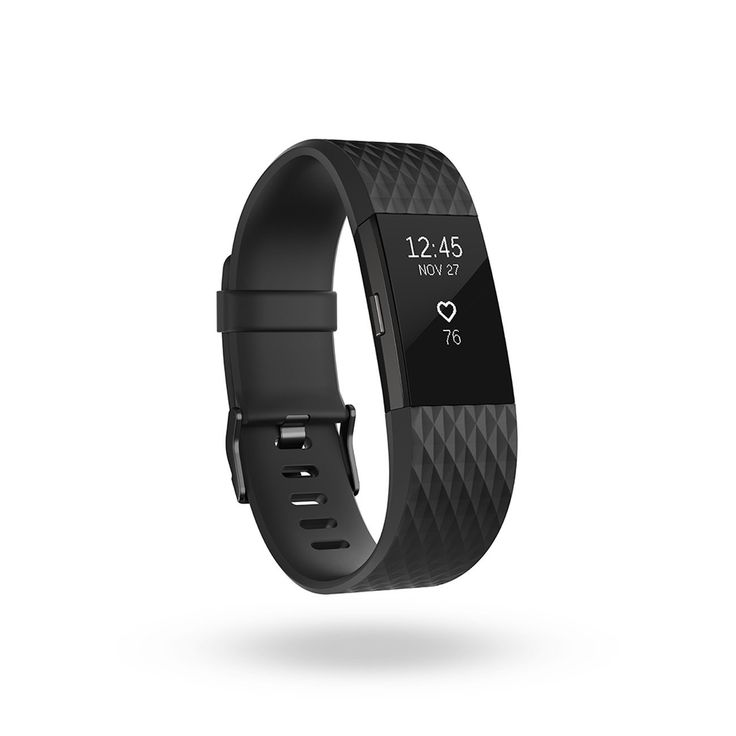 Fitbit Charge 2 Heart Rate Fitness Wristband, Special Edition, Gunmetal, Small US Version