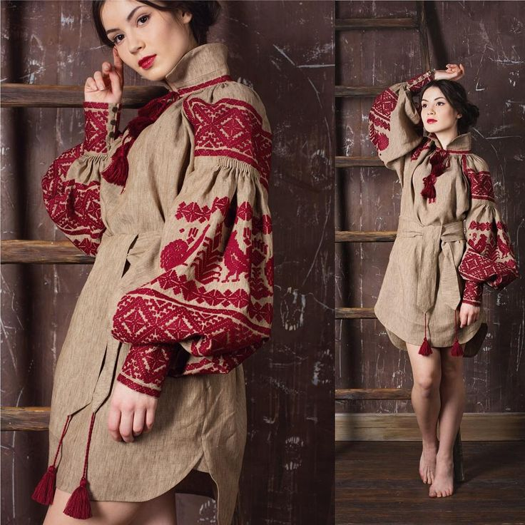 Ukraine Embroidered Clothes Beaded Dresses Clothing Outfit