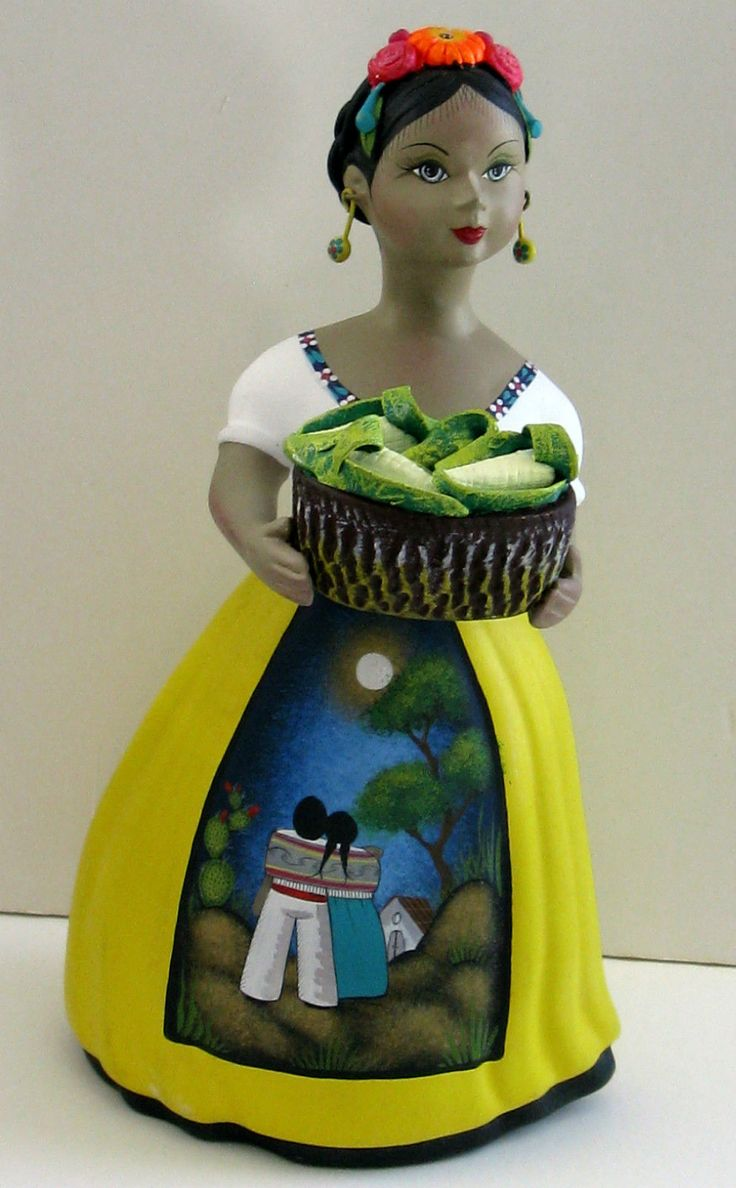 Mexican Lupita Doll Vintage Handcrafted Basket of Corn NAVACO picclick.com