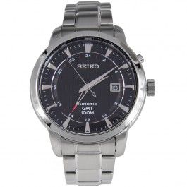 Seiko Kinetic GMT 100m Watch SUN033P1 SUN033P