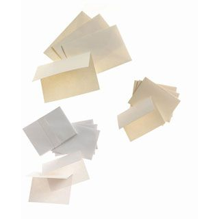 Core'dinations 4.25 x 5.5 Blank Cards and Envelopes: White, 50 Pack