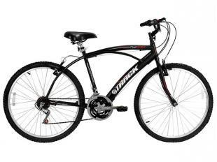 Bicicleta Track & Bikes Fast 100 Aro 26 21 Marchas - Guidão Curvo com Mesa MTB Freios V-Brake