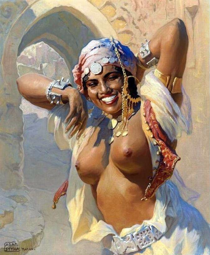Adam Styka (Polish , 1890-1950) - A Moroccan Dancer