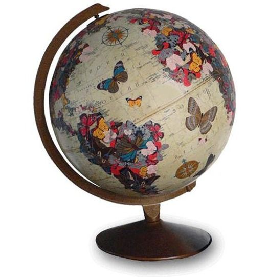 The cutest globe ever. For emmy. PS. It also costs 600 smackers. what the what? Moving to DIY board. Take that, globe nazis...