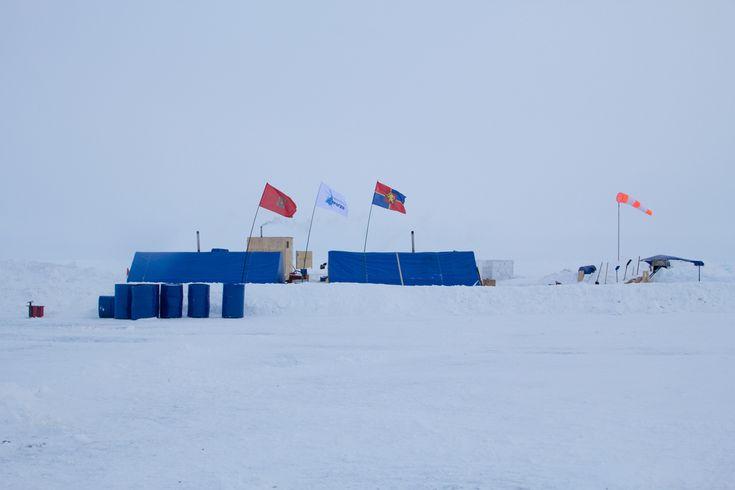 Barneo Ice Camp in Russia.