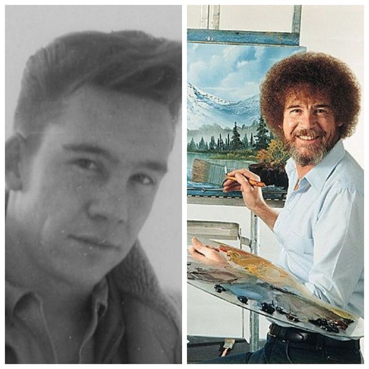 Painter Bob Ross was in the Air Force for 20 years, retiring as a Master Sergeant.