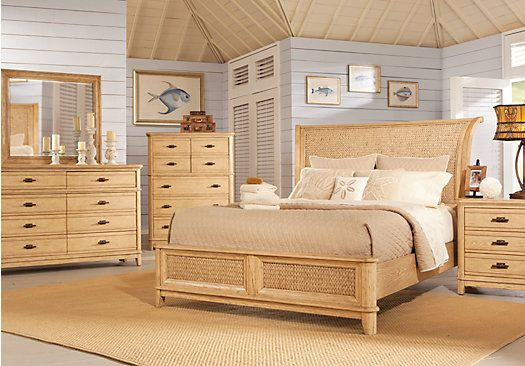 shop for a cindy crawford home sunset isles ash woven 5 pc king bedroom at rooms to go find. Black Bedroom Furniture Sets. Home Design Ideas