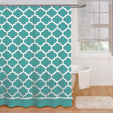 Mainstays Fretwork Shower Curtain in Gray