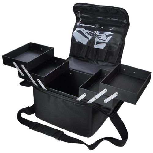 Amazon.com : Professional Cosmetic Oxford Portable Black Cosmetic Soft Makeup Train Case : Large Cosmetic Bag : Beauty