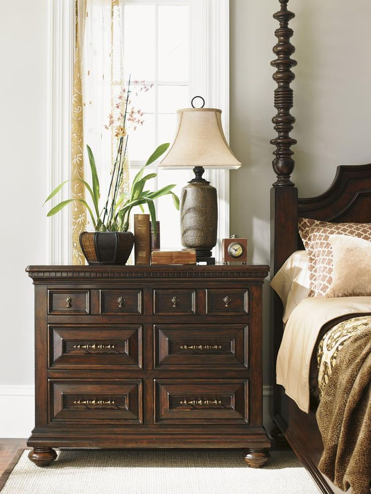 Kilimanjaro Valhalla Bachelor S Chest With Dentil Moulding And Brass Teardrop Hardware By Tommy Bahama Home