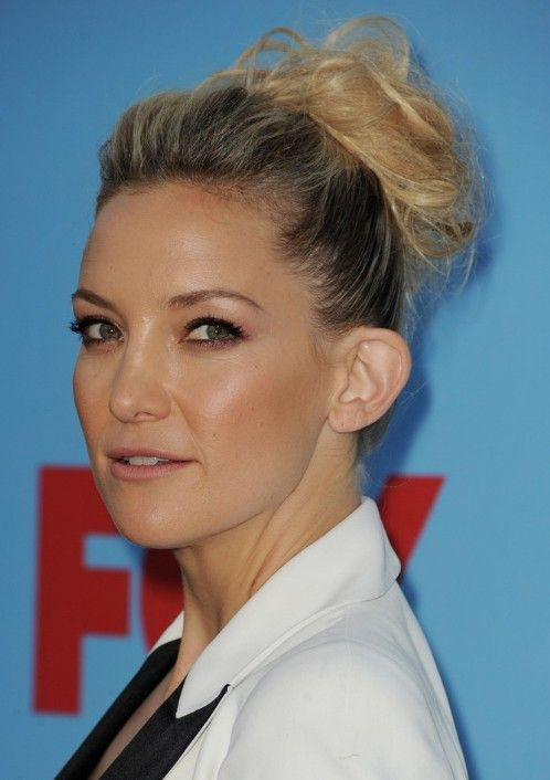 Kate Hudson Formal Updo Hairstyle for Long Hair