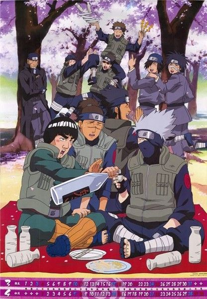 LOL Looks Like Iruka is saying Please don't get Kakashi any more drunk than he already is!
