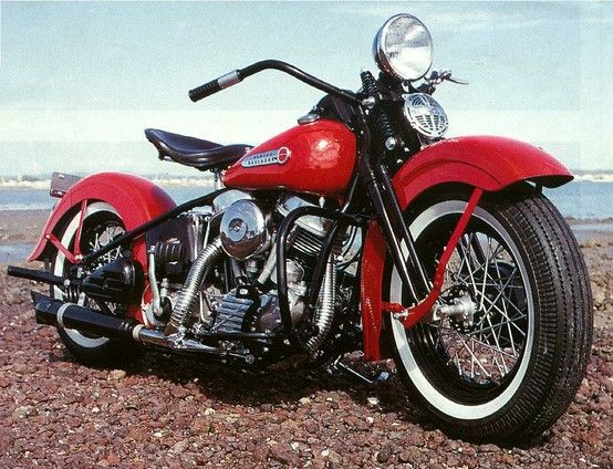 1948 Harley Panhead Springer.......First year of the legendary Pan . Produced through   1965 ....'65 was the first year for electric start ...ElectraGlide was born ...the only stock Panhead with electric start ....
