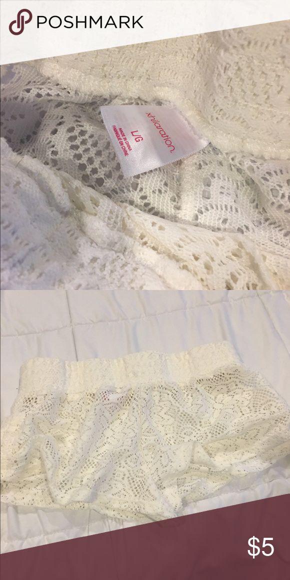 lace shorts white lace bathing suit shorts Xhilaration Shorts