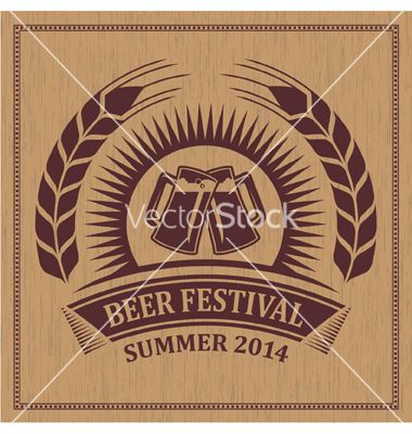 Beer festival icon vector 2079809 - by rtguest on VectorStock®