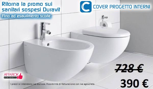 Promo sui sanitari sospesi Duravit da Cover Progetto Interni ...