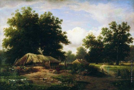 Каменев Л. Л. Украинский хутор в дубовом лесу