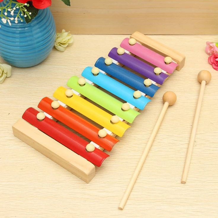 Kids Toys 8 Notes Musical Xylophone Piano Wooden Instrument For Children       Feature Xylophone toy sounds very melodious when you knock it. And each piece of metal knock voice is different. Can Inspire children's talent for music. Bright colors increase the kids sensitive to colors. Easy...