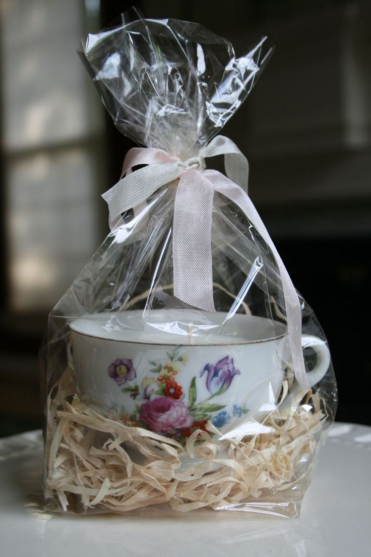 lovely...add tea bag, chocolate, or melt a candle in the cup...simple and thoughtful