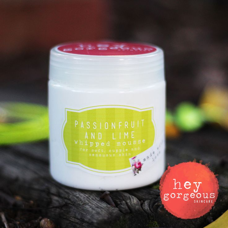 Passion Fruit & Lime whipped Mousse or Body Butter. It is a excellent for hydrating dry and thirsty skin, protecting it in harsh weather and nourishing with vitamins A, E and fatty acids, which are necessary for retaining moisture and elasticity of skin.