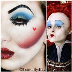 Queen of hearts - Halloween Makeup ideas, (Queen of Hearts ideas to go with Bri Halloween costume)