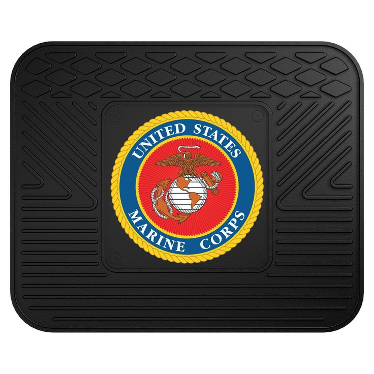 "CaptJimsCargo - US Marine Corps USMC Logo Workbench Car SUV Mat 14"" x 17"" Molded Vinyl,  (http://www.captjimscargo.com/u-s-military-logo-rugs-mats/us-marine-corps-usmc-logo-workbench-car-suv-mat-14-x-17-molded-vinyl/) This US Marine Corps USMC car SUV RV workbench backseat mat is made in the U.S.A. of 100% heavy duty molded vinyl with a non-skid nibbed backing and a true seal colors Marine Corps Eagle Globe & Anchor molded & raised 3D logo medallion in the center."