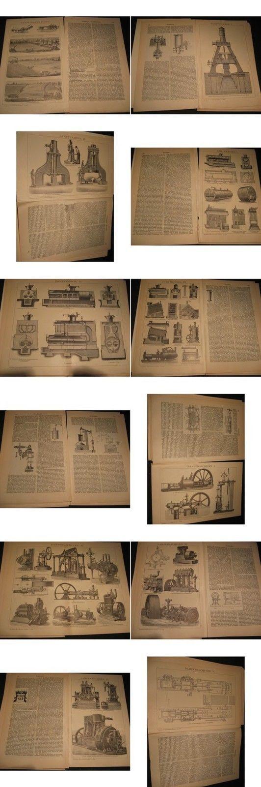 Holzstich von 1900-Dampfmaschinen-Kessel diverse Modelle mit Bericht von 1900   eBay