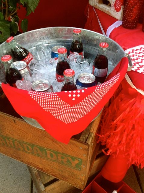 Drinks from a Canada Day party! See more party ideas at CatchMyParty.com!